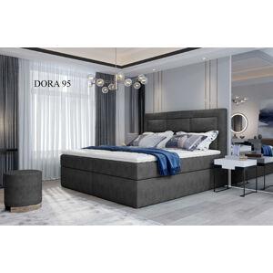 Čalouněná postel VIVRE Boxsprings 140 x 200 cm Provedení: Dora 95