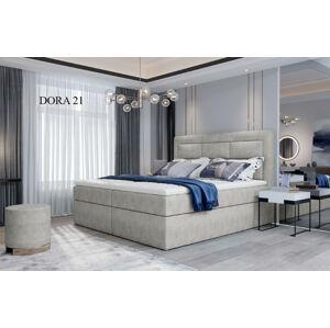 Čalouněná postel VIVRE Boxsprings 160 x 200 cm Provedení: Dora 21