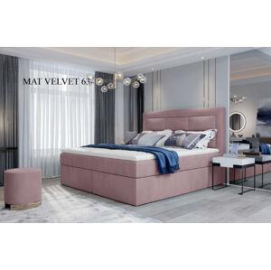Čalouněná postel VIVRE Boxsprings 180 x 200 cm Provedení: Mat Velvet 63