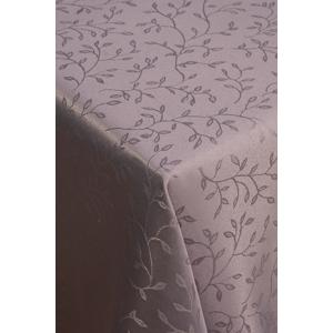 Šedý ubrus FRIDO se vzorem, 140 x 220 cm