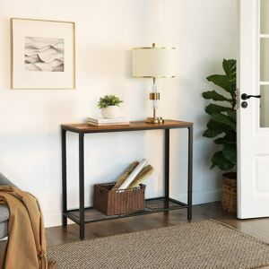 Konzolový stolek s kovovou policí 100 x 80 x 35 cm