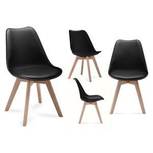 Sestava židlí BESO černá, 4 kusy