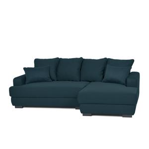 Rohová sedací souprava TUBERO tmavě modrá, pravé provedení