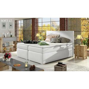 Čalouněná postel DIVALO Boxsprings 180 x 200 cm Provedení: Soft 17
