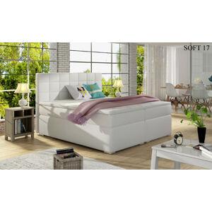 Čalouněná postel ALICE Boxsprings 140 x 200 cm Provedení: Soft 17