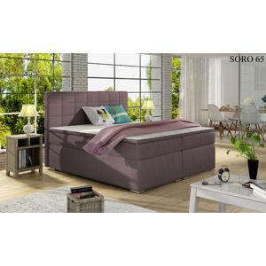 Čalouněná postel ALICE Boxsprings 140 x 200 cm Provedení: Soro 65