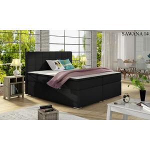 Čalouněná postel ALICE Boxsprings 160 x 200 cm Provedení: Sawana 14