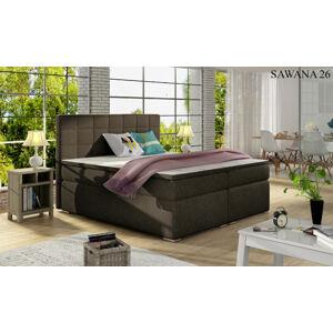 Čalouněná postel ALICE Boxsprings 160 x 200 cm Provedení: Sawana 26