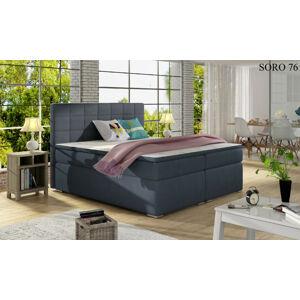 Čalouněná postel ALICE Boxsprings 160 x 200 cm Provedení: Soro 76