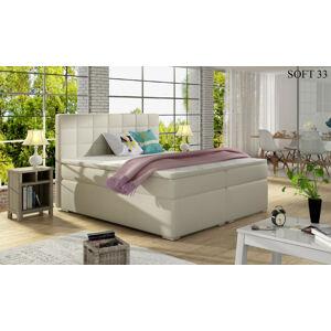 Čalouněná postel ALICE Boxsprings 180 x 200 cm Provedení: Soft 33