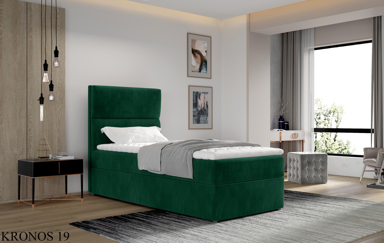 Čalouněná postel ARCO Boxsprings 90 x 200 cm Provedení: Kronos 19