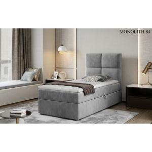 Čalouněná postel RIVIA Boxsprings 90 x 200 cm Provedení: Monolith 84