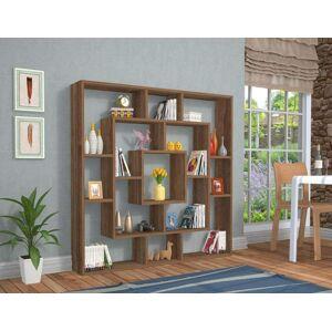 Regál knihovna FRAME hnědá 125 x 125 x 22 cm
