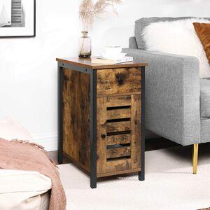 Odkládací stolek se skříňkou a zásuvkou industriální 30 x 60 x 50 cm