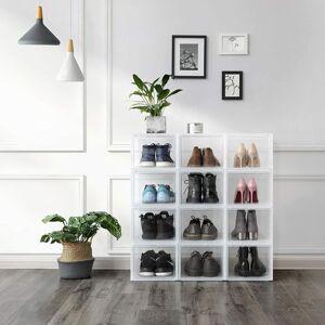 Box na obuv transparentní 3 ks 28 x 22 x 36 cm
