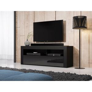 Televizní stolek Mex 140, 2K, černý lesk