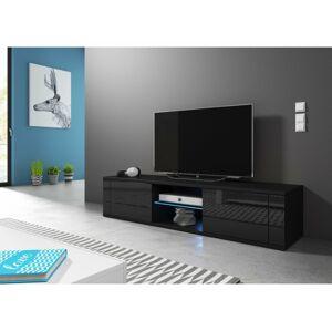 Televizní stolek HIT, s LED osvětlením, černý