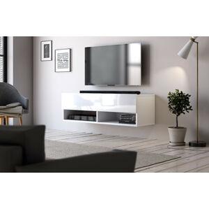 Televizní stolek DERBY 100 bílý mat/bílý lesk