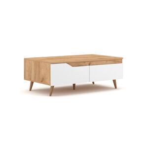 Konferenční stolek  TUE dub/bílý mat