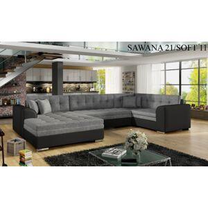 Rohová sedací souprava DAMARIO, levé provedení Provedení: Sawana 21 + Soft 11