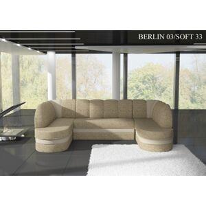 Rohová sedací souprava KAREN Provedení: Berlin 03 + Soft 33
