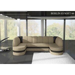 Rohová sedací souprava KAREN Provedení: Berlin 03 + Soft 66