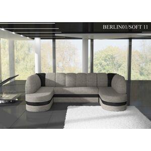Rohová sedací souprava KAREN Provedení: Berlin 01 + Soft 11