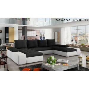 Rohová sedací souprava MARINO Provedení: Sawana 14 + Soft 017 white