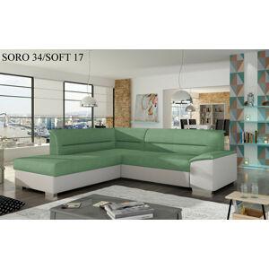 Rohová sedací souprava VERSO, levé provedení Provedení: Soro 34 + Soft 17