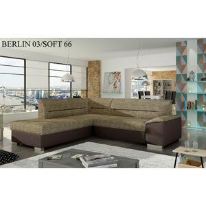 Rohová sedací souprava VERSO, levé provedení Provedení: Berlin 03 + Soft 66
