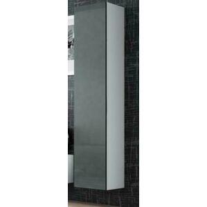 Závěsná vitrína Vigo 180 plná Provedení: Bílo/šedý lesk