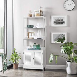 Koupelnový regál se skříňkou bílý 60 x 154 x 33 cm