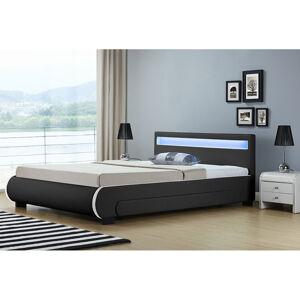 """Čalouněná postel,, Bilbao """"s úložným prostorem 140 x 200 cm - černá"""