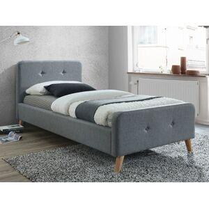 Čalouněná postel MALMO 90 x 200 cm barva šedá / dub