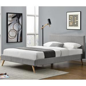 """Čalouněná postel,, Toledo """"140 x 200 cm - světle šedá"""