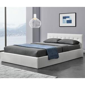 """Čalouněná postel ,,Marbella"""" 140 x 200 cm - bílá"""