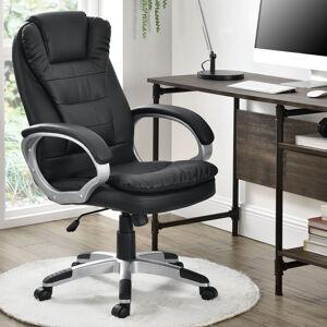 Kancelářská židle Orlando s dvojitým polstrováním - černá