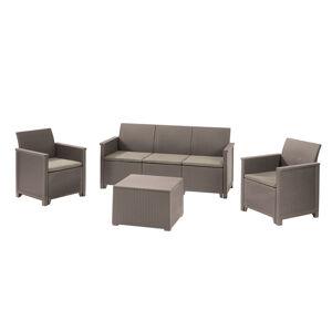 Keter EMMA 3 seaters sofa set - cappuccino