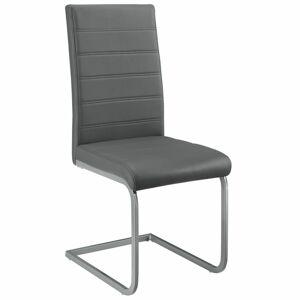 Konzolová židle  Vegas sada 2 kusů, syntetická kůže, v šedé barvě