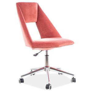 Kancelářská židle PAX růžový samet vzor 173