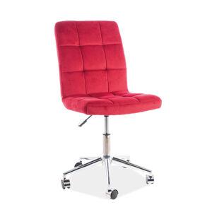 Kancelářská židle Q-020 bordová bluvel 59