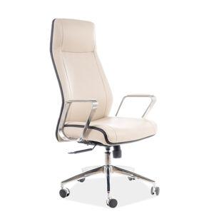 Kancelářská židle Q-321 béžová eko kůže