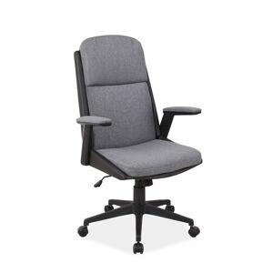 Kancelářská židle Q-333 sivý materiál/černá eko kůže