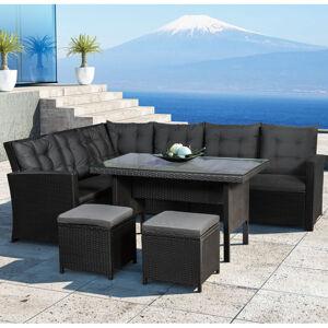 """Polyratanový sezení ,,Santa Catalina"""" černá"""