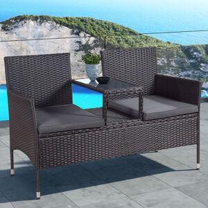 """Polyratanový zahradní nábytek """"Monaco"""", černá s tmavě šedými sedáky"""