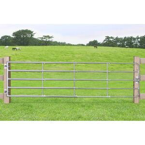 Brána SafeGate L vyrobené z pozinkované oceli, v balení panty a skrutky- 400 x 90 cm